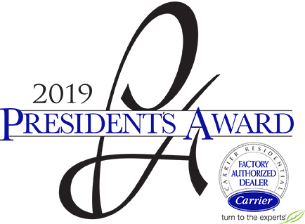 carrier president award logo
